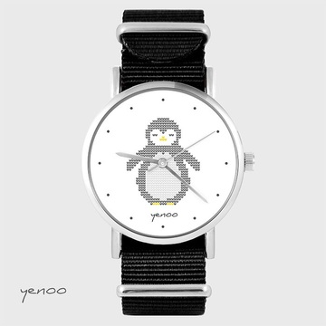 Watch - Penguin knitted -...