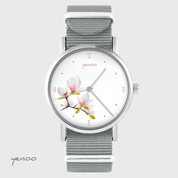 Watch - Magnolia - grey, nato