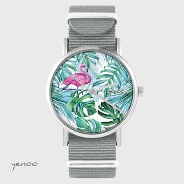 Watch - Flamingo, tropical...