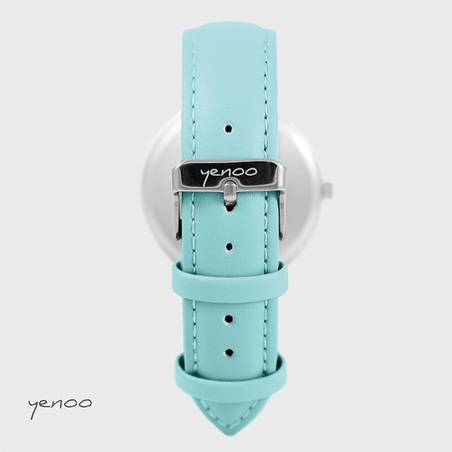 Zegarek, bransoletka - Blue Stars - turkusowy
