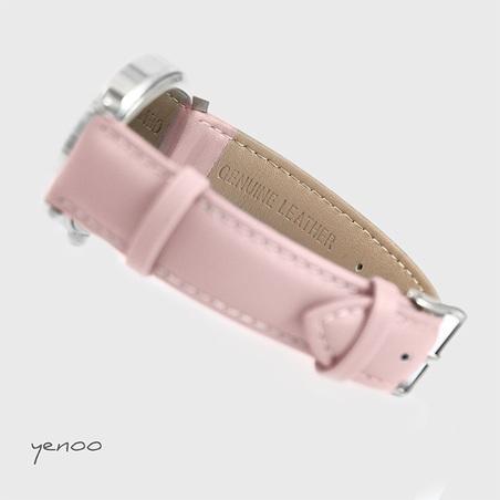 Zegarek, bransoletka - Folkowe serce - pudrowy róż