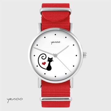 Watch - Cat, heart - red,...