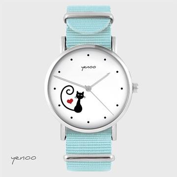 Watch - Cat, heart - blue,...