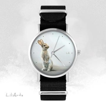 Zegarek -  Zając - czarny,...