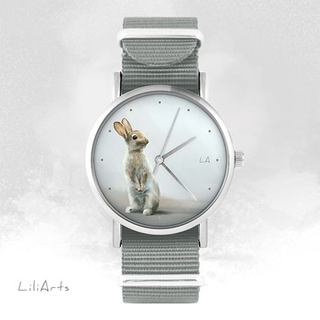 Watch - Hare - grey, nylon