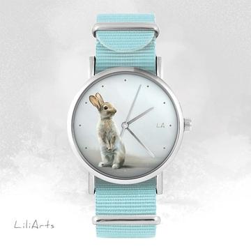 Watch - Hare - blue, nylon