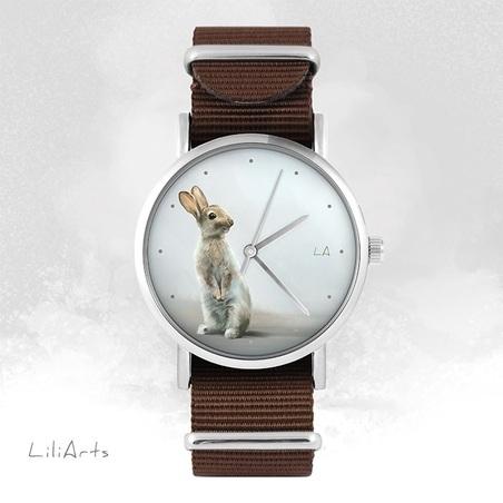 Watch - Hare - brown, nylon