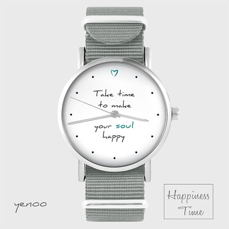 Watch - Make your soul happy - grey, nato