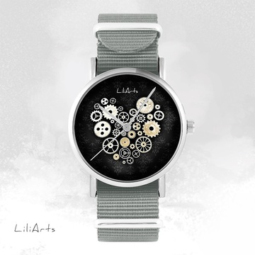 Watch - Steampunk, black -...