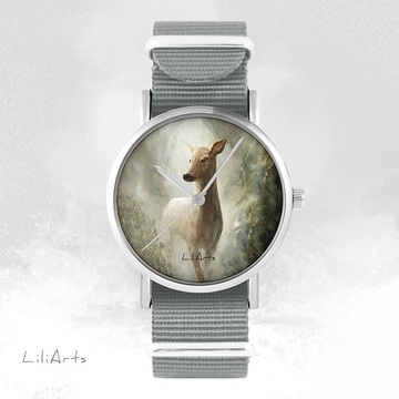 Watch - Deer - grey, nato