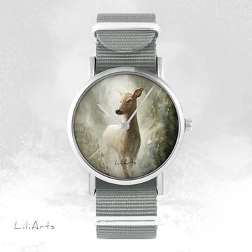 Watch - Deer - grey, nylon
