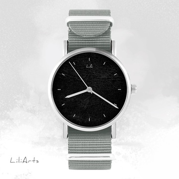 Watch - Black - grey, nato