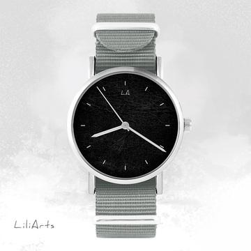 Watch - Black - grey, nylon