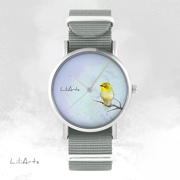 Watch - Yellow Bird - grey,...