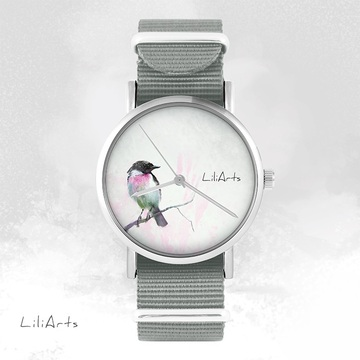 Watch - Bird - grey, nato