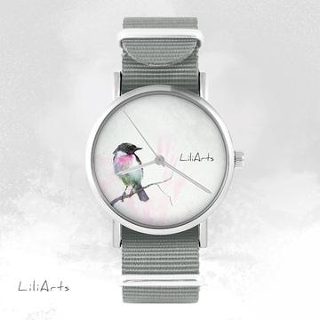 Watch - Bird - grey, nylon