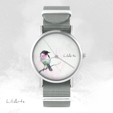 Watch - Bird - grey, nato
