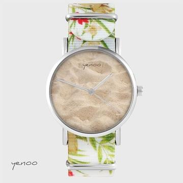 Watch - Sand - flowers, nylon