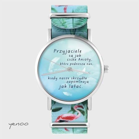 Watch - Przyjaciel - flamingos, nylon
