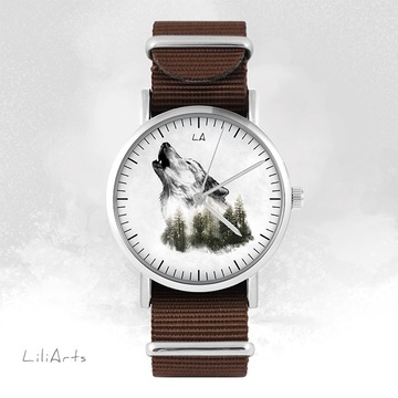 Watch - Wolf - brown, nato
