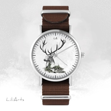 Watch - Stag - brown, nylon