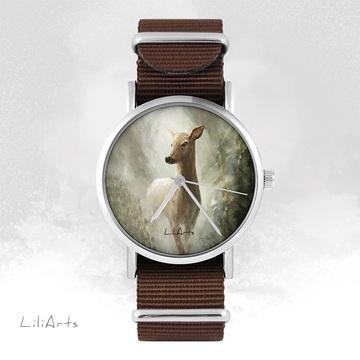 Watch - Deer - brown, nylon