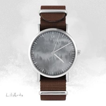 Watch - Wild life - brown, nylon