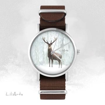 Watch - Deer 3 - brown,...