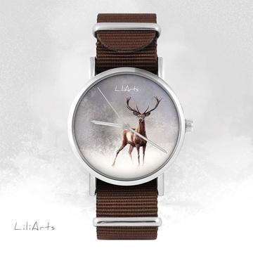 Watch - Deer 2 - brown,...