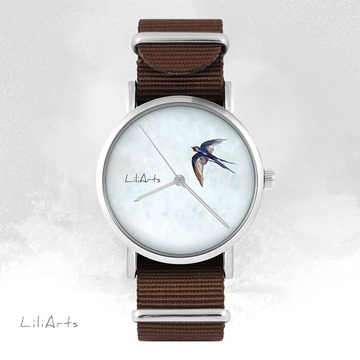 Watch - Swallow - brown, nylon