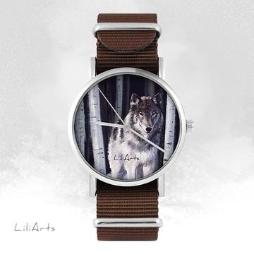 Watch - Grey wolf - brown,...