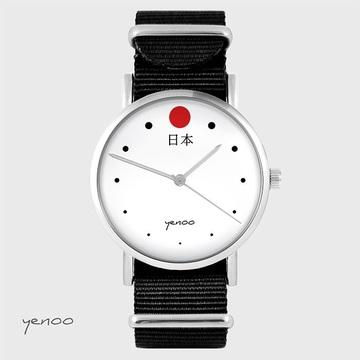 Watch - Japan - black, nylon