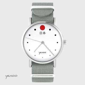 Watch - Japan - grey, nylon