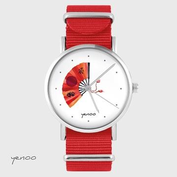 Watch - Japanese fan - red,...