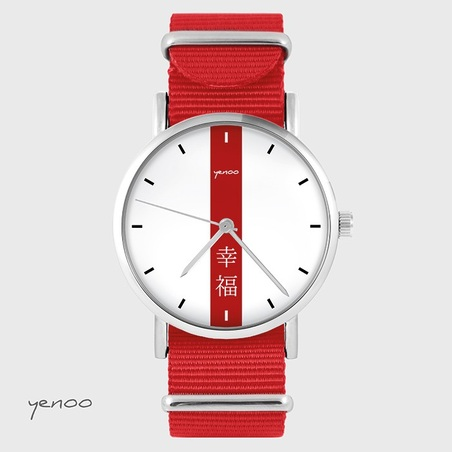 Watch - Japanese Happiness - red, nylon