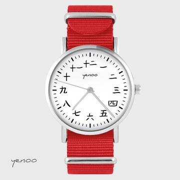 Watch - Kanji  - red, nylon