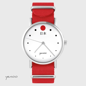 Watch - Japan - red, nato