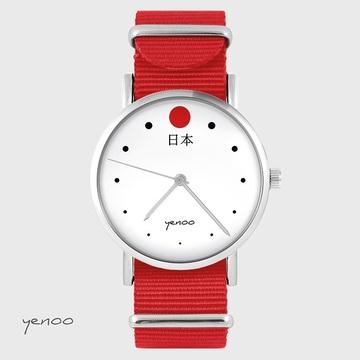 Watch - Japan - red, nylon