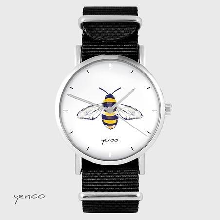 Watch - Bee - black, nylon
