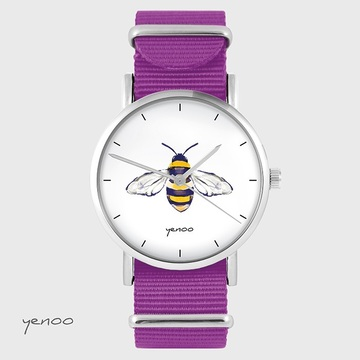 Watch - Bee - magenta, nylon