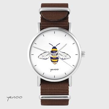 Watch - Bee - brown, nylon