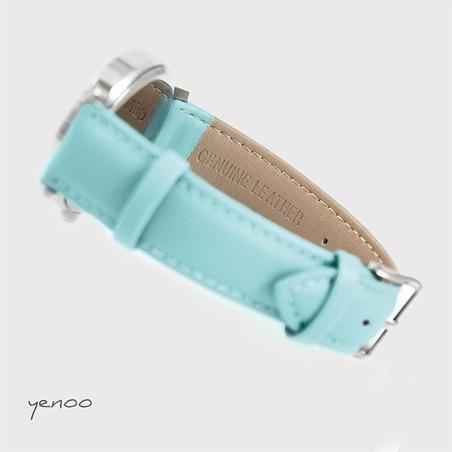 Zegarek, bransoletka - Delfiny - turkusowy