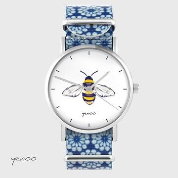 Watch - Bee - nylon, blue,...