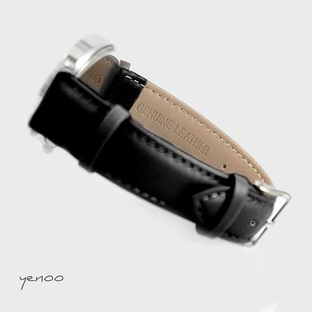 Fashion watch, Bracelet - Moon - black
