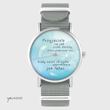 Watch - Friends - grey, nylon