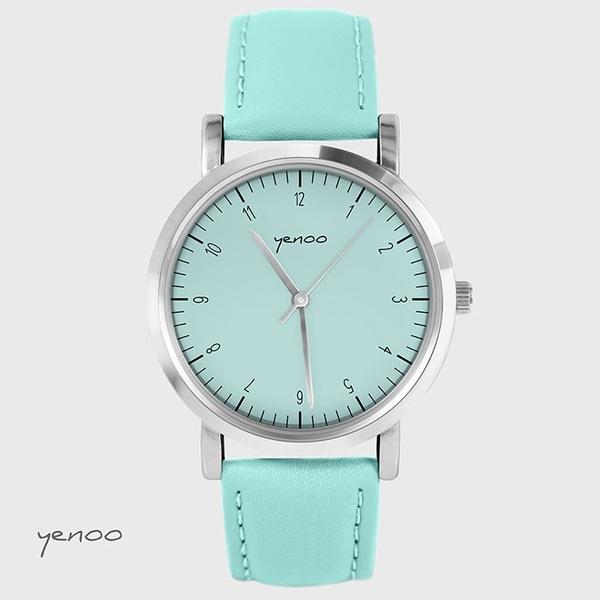 Zegarek, bransoletka - Simple Elegance - turkusowy