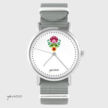Watch - Folk flower - grey,...