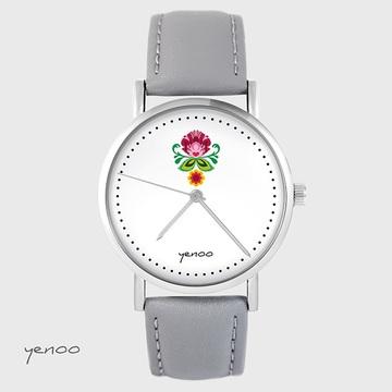 Watch - Folk flower - grey