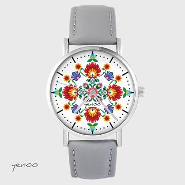 Watch - Folk mandala - grey