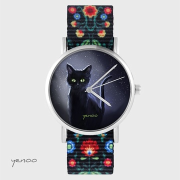 Yenoo watch - Black cat,...